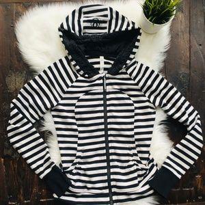 LULULEMON Apex Stripe Movement Hoodie Jacket 6